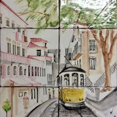 Portuguese Tiles, Lisbon, Drawings, Beautiful, Instagram, Tiles, Sketches, Drawing, Portrait