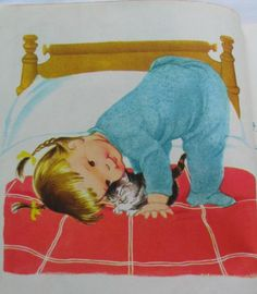 My Kitten Vintage Little Golden Book by Patsy by TheVintageRead