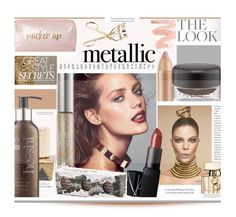 """""""Shine On: Metallic Makeup'"""" by dianefantasy ❤ liked on Polyvore featuring beauty, Neiman Marcus, Gucci, Urban Decay, NARS Cosmetics, Obsessive Compulsive Cosmetics, MAC Cosmetics, Kerr®, polyvorecommunity and polyvoreeditorial"""