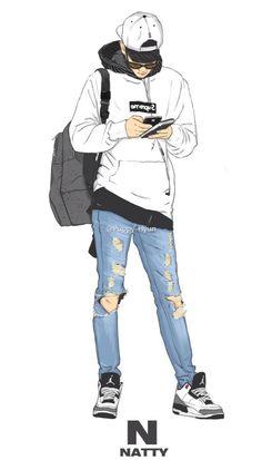 Baekhyun Dope Cartoons, Dope Cartoon Art, Cartoon Kunst, Anime Kunst, Anime Art, Cartoon Wallpaper Hd, Boys Wallpaper, Art Sketches, Art Drawings