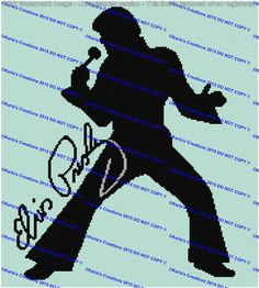 The King Elvis Crochet Graph by KarlasCreationsGraph on Etsy