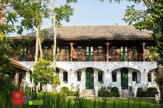 """The Marndadee Heritage Chiang Mai, Thailand 2019 Wedding Anniversary ♥️"""" Neoclassical Architecture, Colonial Architecture, Contemporary Architecture, Architecture Design, Facade Design, House Design, Filipino Architecture, Mediterranean Homes, Dream House Exterior"""