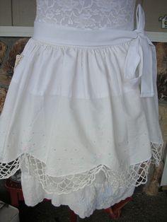 A very sweet and dainty apron Flirty Aprons, Lace Shorts, Sweet, Women, Fashion, Candy, Moda, Fashion Styles, Fashion Illustrations