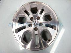 """Used 2003 Acura MDX Front driver WHEEL/RIM, 17"""" 10 SPOKE DEEP GASH/GOUGE ON LIP. 42700S3VA21. Purchase from https://ahparts.com/buy-used/2003-Acura-MDX-Front-driver-WHEEL-RIM-17-10-SPOKE-42700S3VA21/101594-1?utm_source=pinterest"""