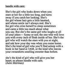 please handle with care... This is perfect
