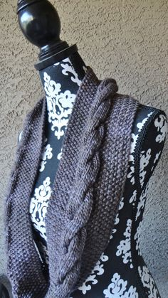 Scarf Circle Scarf Womens Infinity Scarf in Pretty by KnitsDuNord, $58.00