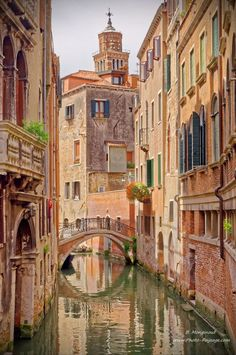One of the many small bridges that cross the #Venetian canals - #Venice, Italy
