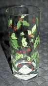 Libbey Holiday Holly Tall Tumblers Holly Berries