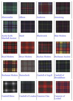Blair Modern - last tartan on the second row
