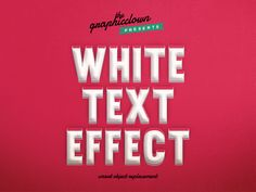 White Text Effect - Freebies