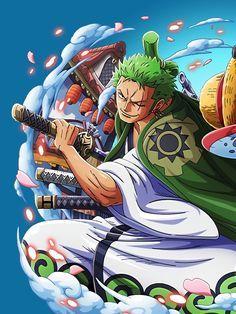 Sanji Zoro Wano One Piece Metal Poster Print Onepiecetreasure Displate Manga Anime One Piece Anime Character Design One Piece Drawing