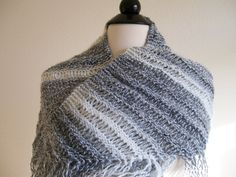 I just listed  Grey and White Knitted Shawl on The CraftStar @TheCraftStar #uniquegifts