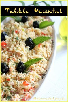 Taboulé oriental aux raisins Risotto, Entrees, Oatmeal, Salads, Brunch, Healthy Recipes, Healthy Meals, Food And Drink, Rice