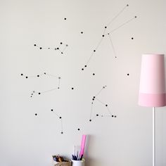 diy: constellation wall decor for a subtle change - very personal would perhaps be great on the ceiling too...x