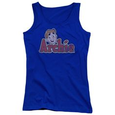 """Checkout our #LicensedGear products FREE SHIPPING + 10% OFF Coupon Code """"Official"""" Archie Comics / Distressed Archie Logo - Juniors Tank Top - Archie Comics / Distressed Archie Logo - Juniors Tank Top - Price: $29.99. Buy now at https://officiallylicensedgear.com/archie-comics-distressed-archie-logo-juniors-tank-top"""