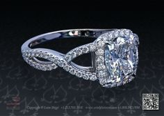 Halo Ring Pave by Leon Mege