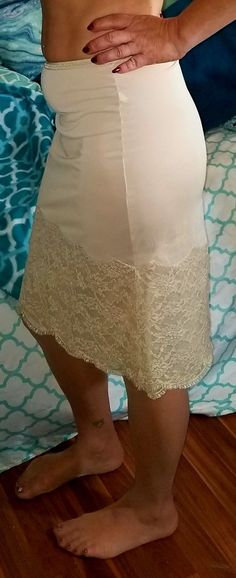 VTG VANITY FAIR HALF SLIP NUDE LOTS OF LACE SEXY gorgeous lingerie pin-up XS | eBay Silk Slip, Satin Slip, Slip On, Vanity Fair Lingerie, Lingerie For Sale, Gorgeous Lingerie, Vintage Lingerie, Nylons, Lace Skirt