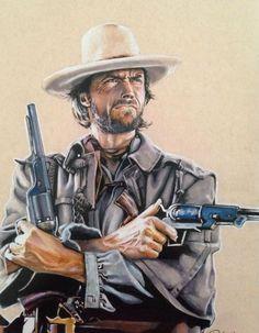 Western Film, Western Style, Western Art, Western Cowboy, Clint Eastwood, Eastwood Movies, Chuck Norris, Pikachu, Pokemon