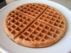 GF coconut flour/coconut oil waffles. Just made these for breakfast....delish!