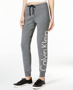 Calvin Klein Performance gives you a fresh look in classic comfort in these sleek sweatpants. They're equally at home during a yoga class as they are during down time. | Cotton/polyester | Machine was