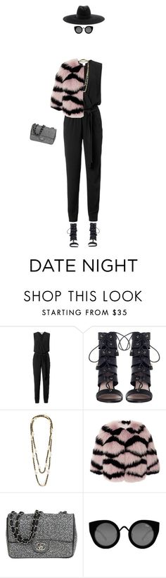 """""""#275: date night"""" by imjustsayin ❤ liked on Polyvore featuring Diane Von Furstenberg, Zimmermann, Chanel, Elie Saab, Quay and Yves Saint Laurent"""