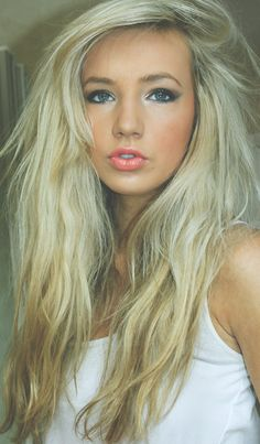 This will be me someday. Gorgeous long blonde hair & TAN