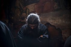 """""""Keep your mind in hell and despair not."""" St. Silouane the Athonite A moment during the daily services."""