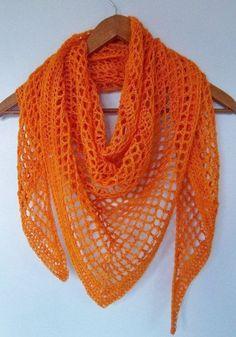 Melon Shawl crocheted all seasons weight Scarf lace wrap handmade Crochet Shawls And Wraps, Crochet Poncho, Knit Or Crochet, Crochet Scarves, Crochet Crafts, Crochet Clothes, Crochet Projects, Crocheted Scarf, Shawl Patterns