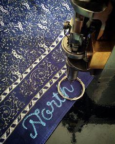 ~ North ~ Custom chain stitch embroidered neckerchief 877 Workshop