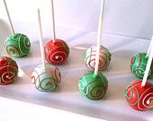 Cake Pops - Christmas Cake Pops, Holiday Party Favors or Gifts Christmas Cake Pops, Christmas Sweets, Christmas Goodies, Christmas Baking, Christmas Fun, Holiday Fun, Christmas Ornament, Beautiful Christmas, Holiday Cakes