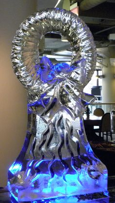 3D Wreath Ice Sculpture