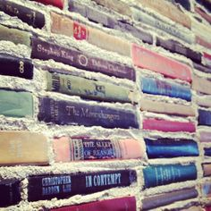 Wall books at Literati Cafe, WOW!