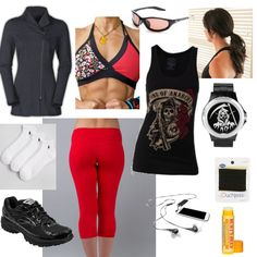 Cool Sons of Anarchy themed outfit for the Running Chic fashion challenge styled by Adria