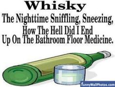 Whiskey The Nighttime Sniffling, Sneezing, How the Hell Did I End up on  the Bathroom Floor cold flu  Medicine