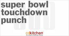 Super Bowl Touchdown Punch from CDKitchen.com