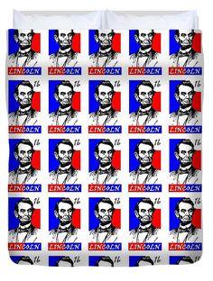 Abraham Lincoln Duvet Cover featuring the digital art Abraham Lincoln 16 by Otis Porritt