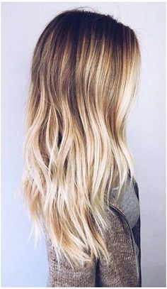 Brown to blonde ombré. Want!!