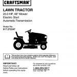 craftsman lawn mower parts in canada