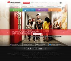 The Art Institutes - Homepage redesign by Aart Balk, via Behance
