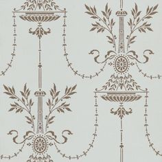 Dorset (88/7031) - Cole & Son Wallpapers - A classical French filigree style damask in duck egg blue with metallic gold delicate surface printing.