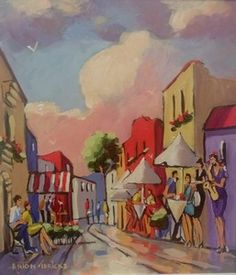 Street And Music - Gericke Anton Upcoming Artists, South African Artists, Pretoria, Anton, Veronica, Art Gallery, Passion, Paintings, Oil