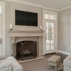 Fireplaces plantation shutter and shutters on pinterest for French doors with windows either side