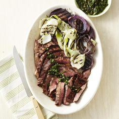 green vinaigrette grilled beef heart with herbed vinaigrette the beef ...