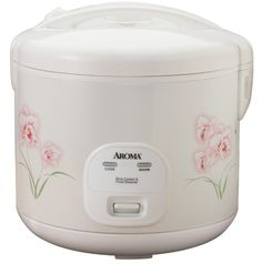 Electric Rice Cooker 6 Cups Food Steamer New This cool-touch rice cooker from Aroma makes perfect rice, soups, stews and even steams meat and vegetables simultaneously. It flawlessly prepares up to 12 cups of any type of rice and automatically keeps it warm until you're ready to eat. Features a water reservoir that channels away excess condensation for rice that's light and fluffy, every time. Includes measuring cup, steam tray and serving spatula.