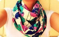 DIY Infinity scarves. Judy~