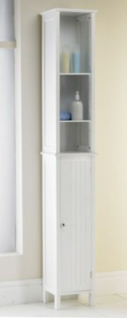 Slimline+Tall+Bathroom+Storage+Cabinet & Awesome Skinny White Painted Wooden Cabinet With Small Glass Door ...