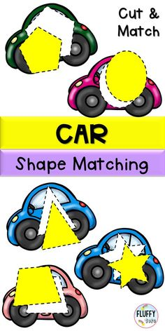 Looking for addition activities to your transportation theme preschool activities? This Car Shape Matching transportation printables is perfect for you. Let your kids cut the shapes and sort it out by themselves. Perfect for independent activities. Addition Activities, Shape Activities, Sorting Activities, Motor Activities, Toddler Preschool, Toddler Activities, Transportation Theme Preschool, Printable Shapes, Preschool Centers