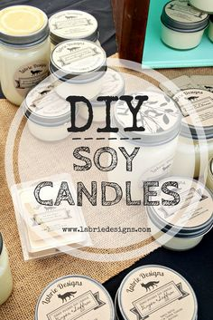 DIY Soy Candles! Instructions from a candle maker on how to achieve professional quality candles at home! Think wedding favors, fun crafts, and general diys!