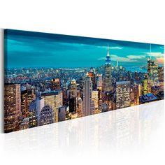 Rascacielos en panorama de Manhattan - vista única es ideal como un cuadro para el salón o la oficina #nuevayork #ny #manhattan #cuadro #fotoenlienzo