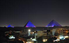 pyramids at night | Panoramio - Photo of Pyramids of Giza at night